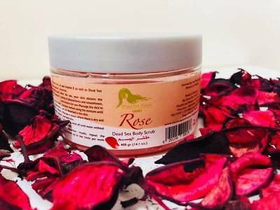 Body Scrub, Rose (400G) 'Dead Sea Pearls' 27 Minerals Essential for your Skin