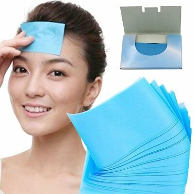 50 Sheets Make Up Oil Control Oil-Absorbing Blotting Facial Face Clean Paper AU