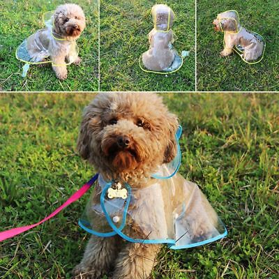 Transparent Pet Clothes Dog Raincoat Waterproof Rain Jacket For Rainy Day