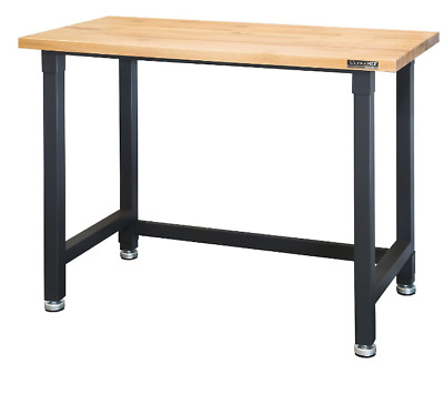 ULTRA HEAVY-DUTY COMMERCIAL Garage Wooden Top Workbench Table Metal ...