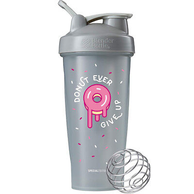 Blender Bottle Special Edition 28 oz. Shaker with Loop Top - Donut Ever Give Up