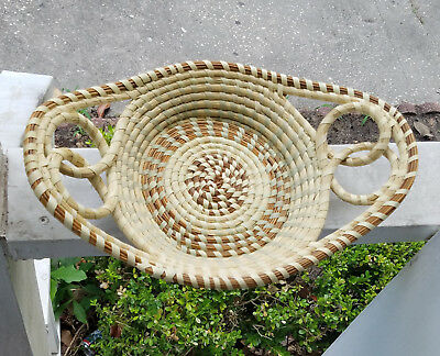 Gullah Sweet Grass Basket (Medium Double Handle Double LoopTray )