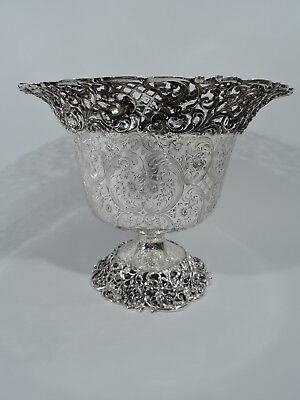 Roger Williams Bowl - G194 - Antique Centerpiece Urn - American Sterling Silver