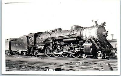 Western & Atlantic Railroad W of A RR RPPC Real Photo Postcard Locomotive 186