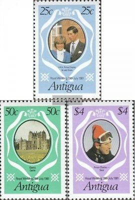 antigua 628C-630C (complete issue) unmounted mint / never hinged 1981 Wedding Pr