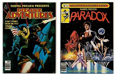 Marvel Preview #20 and #24 1979 / Bizarre Adventures & Paradox / Both VF- 7.5