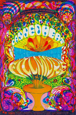 MINT Canned Heat Gordon Lightfoot 1968 BG 139 Psychedelic Fillmore Poster