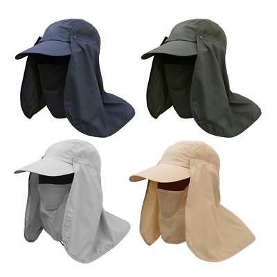 Camping Hiking Fishing Baseball Cap Ear Flap Sun Neck Face Cover Visor Army Hat