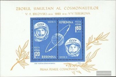 Romania block54 (complete issue) unmounted mint / never hinged 1963 Vostok 5+6