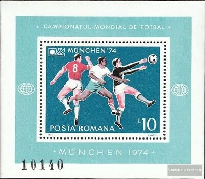 Romania block114 (complete issue) unmounted mint / never hinged 1974 Football-WM
