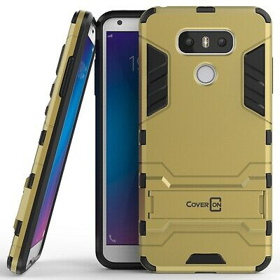 For LG G6 / G6 Plus Hard Case Gold / Black Kickstand Protective Phone Cover