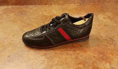053f0130566 NEW! GUCCI  SL 73  Black Red Green Sneakers Mens Size 7 US 38.5 Eur ...