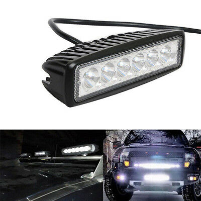 6inch 18W LED Work Driving Light Bar Cree Flood Beam Lamp Reverse Off Road MD