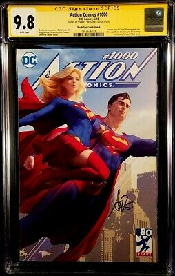 DC ACTION COMICS #1000 CGC SS 9.8 Artgerm SUPERMAN BATMAN WONDER WO FLASH CYBORG