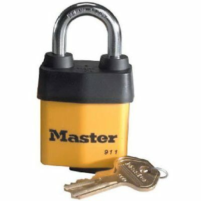 Master Lock Padlock, Covered Laminated Steel Lock, 2-1/8 in. Wide, 911DPF