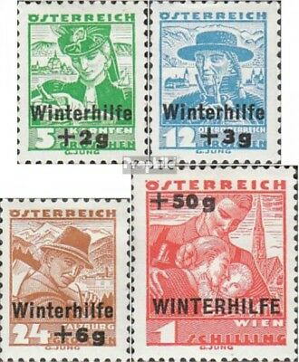 Austria 613-616 (complete issue) with hinge 1935 Winter Aid
