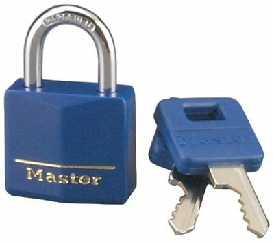 "Master Lock 1 3/16"" Covered Brass Blue 1-Pack"