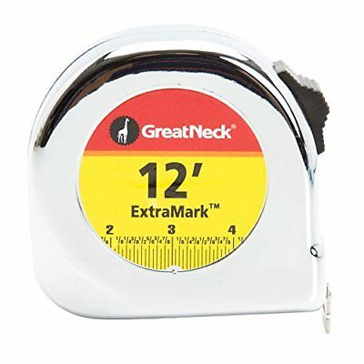 Great Neck C125I 5/8 Inch by 12 Feet Chrome Case Power Tape