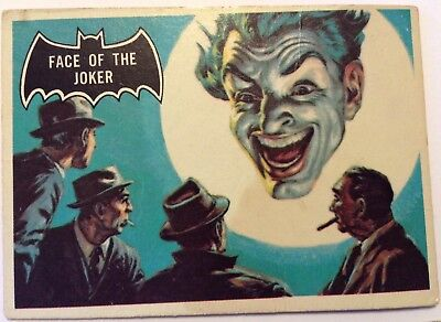 "1966 Vintage Original Batman trading card, 9, "" Face of the Joker"