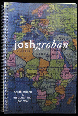 Josh Groban RARE 2004 South Africa Europe Tour Book Band Crew Itinerary UNIQUE!