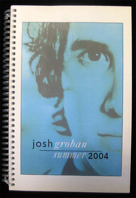 Josh Groban RARE 2004 Summer Tour Book Band Crew Travel Itinerary 1 of a Kind!