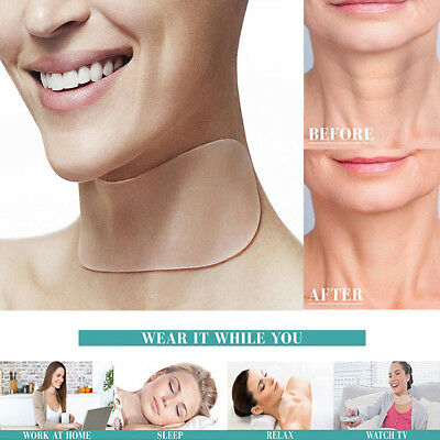 Make up Neck Care Pad Silicone Anti Wrinkle Aging Reusable Transparent Neck Pads