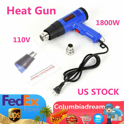 1800 W Electric Heat Gun DIY for stripping paint, varnish, removing decals US