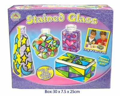 Stained glass kit - makes 4 jars - incl paint - kids craft kits - holiday fun