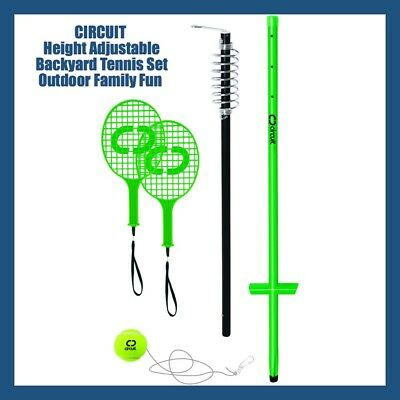 CIRCUIT® Outdoor Sports Deluxe Totem Tennis Set Bat Ball Stand 1 - 2 Player