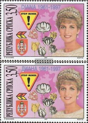 Serbian Republic bos.-h 71-72 mint never hinged mnh 1997 Death of Princess Diana