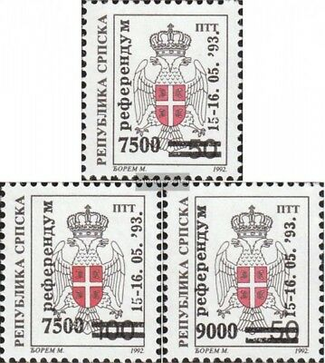 Serbian Republic bos.-h 24-26 mint never hinged mnh 1993 referendum