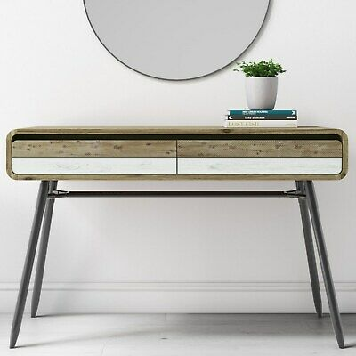 Kuta Wooden Console Table with 2 Drawers- Industrial Style KUT005