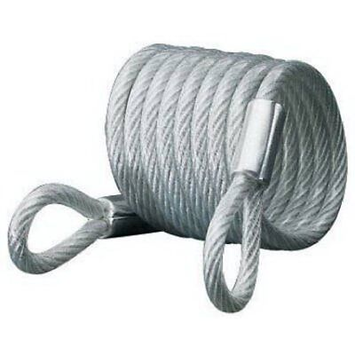 Master Lock 65D Self-Coiling Cable with Looped Ends, 6-Foot, 1/4-inch Diameter