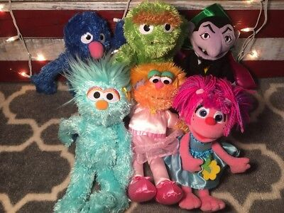 Lot Of 6 Gund Sessme Street Plush Stuffed Excellent Clean Condition 2015