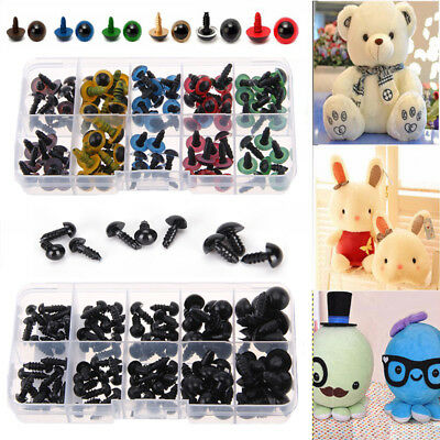 100pcs Plastic Safety Black / Color Eyes Bear Doll Animal Make Soft Toys New