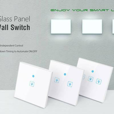Wifi Smart Wall Touch Light Control Switch APP Control Alexa Google Home UK Plug