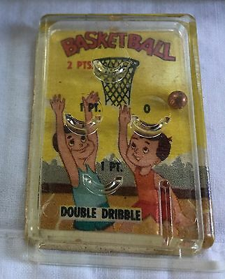 1960's Cracker Jacks Toy Pinball Game Basketball Double Dribble Toy