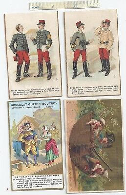 #2 c1900 Lot of 4 Diff Various Misc French Chocolate Advertising Trade Cards Ad