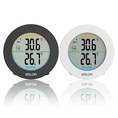 Baldr Round Wireless Thermometer LCD Digital Wall Temperature Meter B0127T2 AU