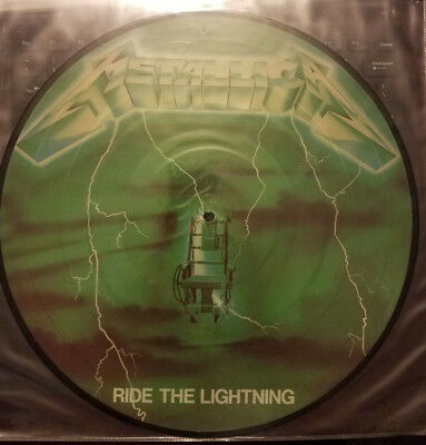 Metallica** Ride the lightning**Green **  Picture lp / Disc ** RARE
