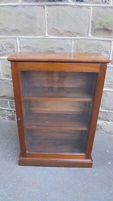 Antique Mahogany Glazed Collectors Cabinet Bookcase