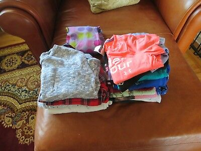 Girls Clothing Size 8 19 shirts 2 pajama  Under Armour, Justice, Monster High