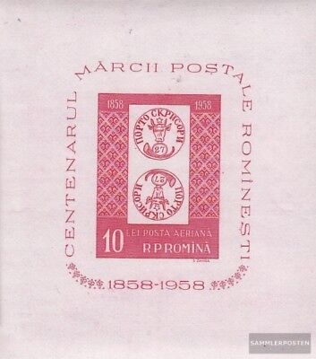 Romania block41 fine used / cancelled 1958 100 years Romanian Stamps