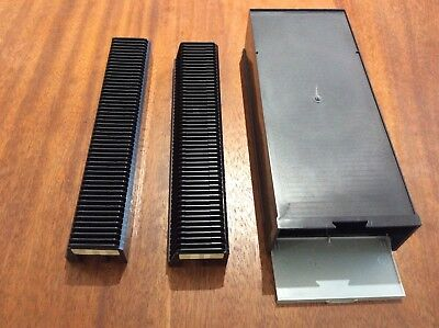 5 x slide storage boxes with 2 x 50 slide projector magazines