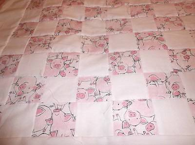 Pink   Baby  Quilt Top~  ~Made By Glenda