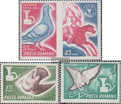 Romania 2457Zf-2459 (complete.issue.) fine used / cancelled 1965 Day the Stamp