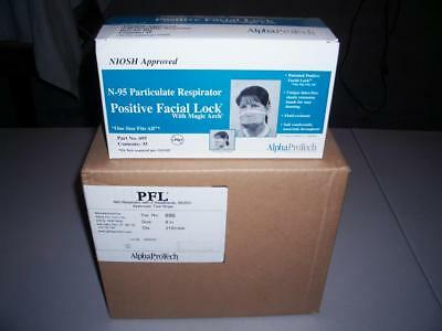 N-95 Particulate Respirator - 6 Boxes / CASE / 210 Positive Facial Lock Masks
