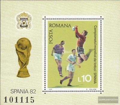 Romania block184 (complete issue) unmounted mint / never hinged 1981 Football-WM
