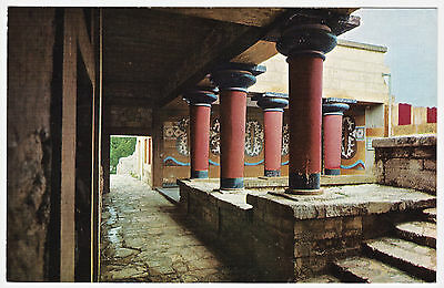 Postcard The Columns Of The Royal Palace, Knossos, Crete. Unposted