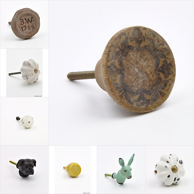 Distressed, Aged, Weathered Old Looking Knob, Pull, Handle, for Cupboards, Doors